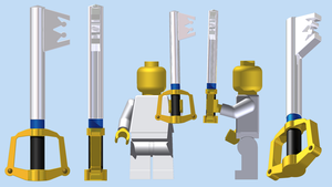 LEGO Keyblade by mingles