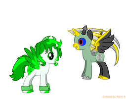 Mulch And Ace As Are Ponies by kindraewing