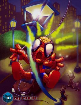 Miscalculation - Spider-Man by 3DbyMoon