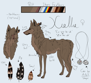 Xiallia Reference [Temporary] by 3DKittenDrawing