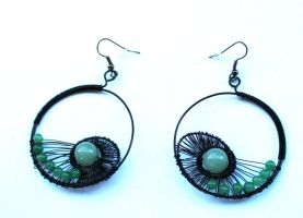 Green Jade earrings by 237743936