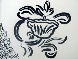 Chinese Floral Design by JSTradArt