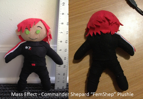 Mass Effect FemShep Plushie by Chibidoodles