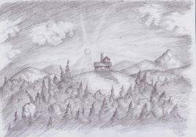 The house at the top of the world by BuckarooJoe