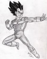 Vegeta - Sketch #2 by Jaylastar