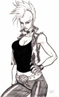 Punk Storm Sketch by CrimsonArtz