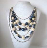 Denim Luxury Necklace by RetroRevivalBoutique