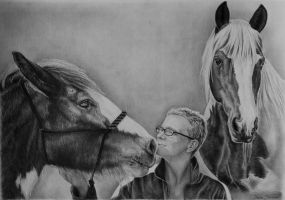 Horses A3 size by Odette1994