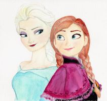 Elsa and Anna- Disney's Frozen by julesrizz