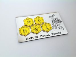 Kabuto Medabot Medal Series 1 by ChinookCrafts