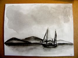 Sailboat at Sea: No.2 by palebluedotresident