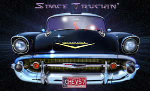 Space Truckin'_'57 Chevy by musksnipe