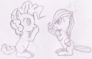 Filly Pinkie Pie and Fluttershy by SpriterJRDA