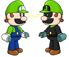 mini-luigi and mini-mr.L by minimariodrawer