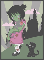 zombie girl by nekofoot