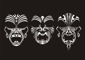 Tribal Masks by malcolmc