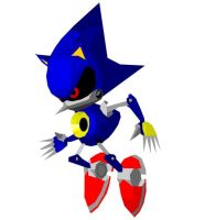 Metal Sonic CG by omegasigma
