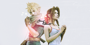 Cloud/Aerith Banner by FioreNeve