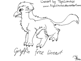 Free gryfin lineart by TigaLioness