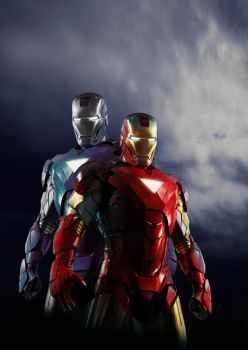 Tony and Jarvis in Armor by Zenoxen