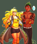 Yang in Sage's Coat commission for ladyaxis by AtsusaKaneytza
