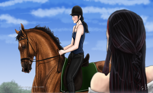Dressage Training with Miss Annabelle by Jullelin