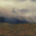 cloudy afternoon, free background. by prima-parfait