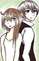 Dave and Airi  sketch by myneea
