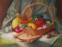Still life with vegetables by Ganusia