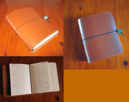 Leather notebook by ObsidianSerpent