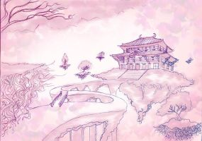 Scenery drawing by JRock-Prophet