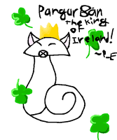 Pangur Ban the King of Ireland by pearlevil