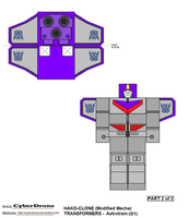 Hako Clone- Astrotrain '2of2' by CyberDrone
