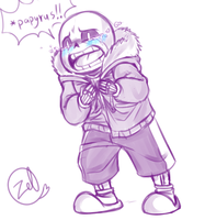 Undertale - Sans: oh no... by zeldaprincessgirl100