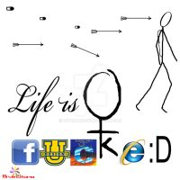 Life is ... by d1pran