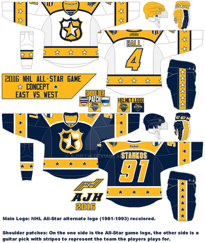 2016 NHL All-Stars Concept by AJHFTW