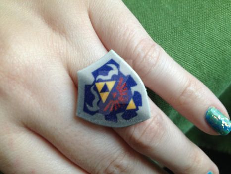 Link Shield Ring by tinybackpack