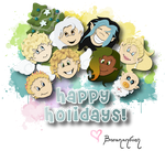 Happy Holidays from the Elementals by barananduen