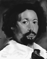 Study of Velasquez 's Portrait of Juan de Pareja by Marcelo-C-C-Filho