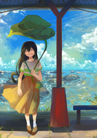 Sunny seaside by Hanromi