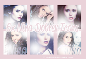 Nina Dobrev Iconset by Tiinkerbellx3
