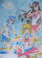 Sailor Moon, Mercury and Mars by MTToto