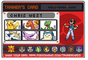 My pokemon trainer card by senordunut