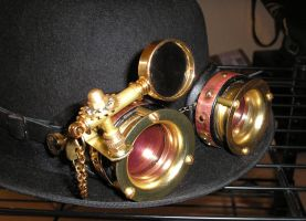 Steampunk Goggles Update. by HerbertW