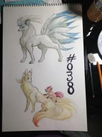 Ninetales Family (For Sale) by Self-Eff4cing