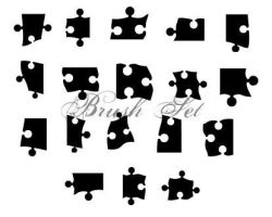 Puzzle Brushes by Arianrhod-Rhan