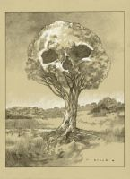 Tree of Death drawing by stevenrussellblack