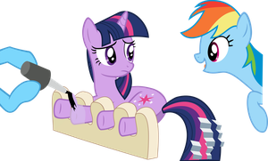 Twilight Sparkle getting a hooficure (request) by LMan225