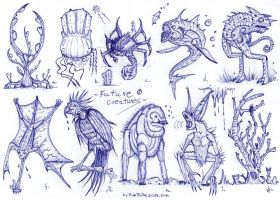 Future creatures by MickMcDee