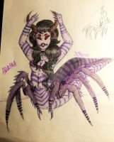 Arachna The queen of the spider people by EllieDarkside